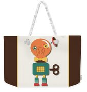 Quirky Retro Wind-up Toy Weekender Tote Bag