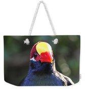 Quizzical Bird Weekender Tote Bag