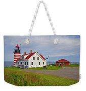 Quoddy Head Lighthouse Weekender Tote Bag