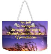 Quote4 Weekender Tote Bag