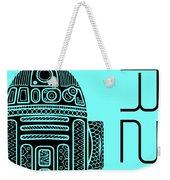 R2d2 - Star Wars Art - Blue Weekender Tote Bag