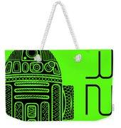 R2d2 - Star Wars Art - Green Weekender Tote Bag
