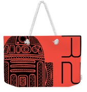 R2d2 - Star Wars Art - Red Weekender Tote Bag
