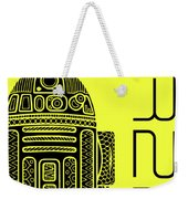 R2d2 - Star Wars Art - Yellow Weekender Tote Bag