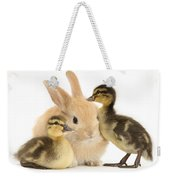 Rabbit And Ducklings Weekender Tote Bag