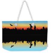 Rabbit Blanket Lake Weekender Tote Bag