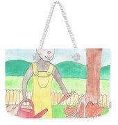 Rabbit Gardening In The Kitchen Garden Weekender Tote Bag