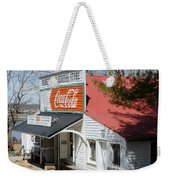 Rabbit Hash Store-front View Angle Weekender Tote Bag