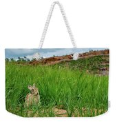 Rabbit In The Grass Weekender Tote Bag