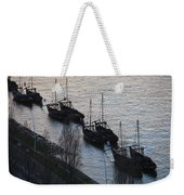 Rabelo Boats On Douro River In Portugal Weekender Tote Bag