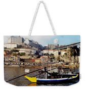 Rabelo Boats On River Douro In Porto 02 Weekender Tote Bag