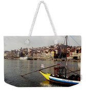 Rabelo Boats On River Douro In Porto 03 Weekender Tote Bag