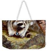 Raccoon Found Treasure  Weekender Tote Bag