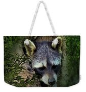 Raccoon In A Log Weekender Tote Bag