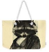 Raccoon Portrait, Animals In Clothes Weekender Tote Bag