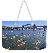 Race On The River Weekender Tote Bag