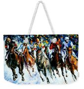 Race On The Snow Weekender Tote Bag