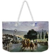 Races At Longchamp Weekender Tote Bag by Edouard Manet