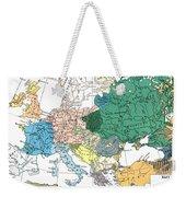 Racial Map Of Europe Circa 1923 Weekender Tote Bag
