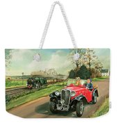 Racing The Train Weekender Tote Bag