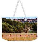 Nine Racing Whitetail Deer Weekender Tote Bag