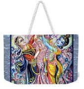 Radha Krishna - Cosmic Dance Weekender Tote Bag