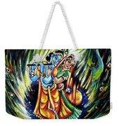 Radhe Krishna Weekender Tote Bag
