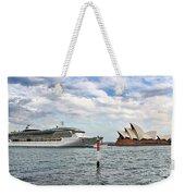 Radiance Of The Seas Passing Opera House Weekender Tote Bag