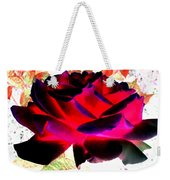 Radiant Red Rose Weekender Tote Bag