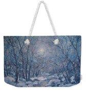 Radiant Snow Scene Weekender Tote Bag