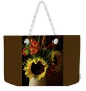Radiant Sunflowers And Peruvian Lilies Weekender Tote Bag