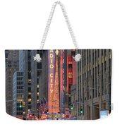 Radio City Music Hall New York Weekender Tote Bag