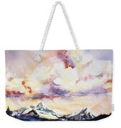Ragged Mountains Sunset Weekender Tote Bag