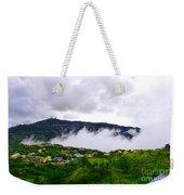 Raging Clouds On The Village Weekender Tote Bag