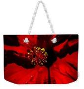 Raging Red Hibiscus Weekender Tote Bag