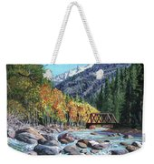 Rail Bridge At Cascade Weekender Tote Bag