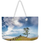 Rail Fence And A Tree Weekender Tote Bag