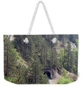 Railroad And Tunnels On Mountain Weekender Tote Bag
