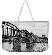 Railroad Bridge -bw Weekender Tote Bag