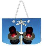 Railroad Crossing Lights Weekender Tote Bag