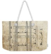 Railroad Switch Patent Weekender Tote Bag