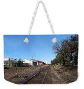 Railroad Tracks Switch Station Weekender Tote Bag