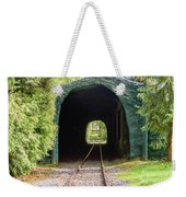 The Railway Passing Through The Tunnel To Meet The Light Weekender Tote Bag