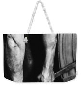 Railroad Worker Tightening Wheel Weekender Tote Bag