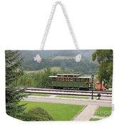 Railway Station On Mountain Vintage Weekender Tote Bag