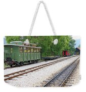 Railway Station With Old Wagons And Train Weekender Tote Bag