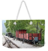 Railway Station With Old Wagons Weekender Tote Bag