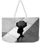 Running In The Rain Weekender Tote Bag