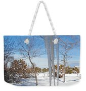 Rain Barrel Icicle Weekender Tote Bag