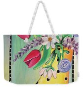 Rain Boots And Flowers Weekender Tote Bag
